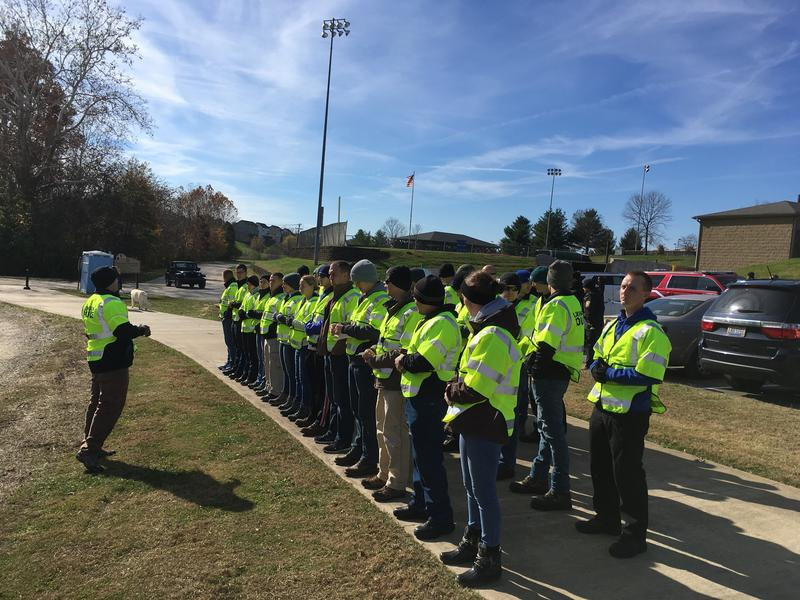 Lexington Police cadets are helping with the search