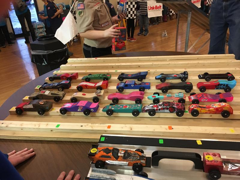 Cars on Display at Pinewood Derby