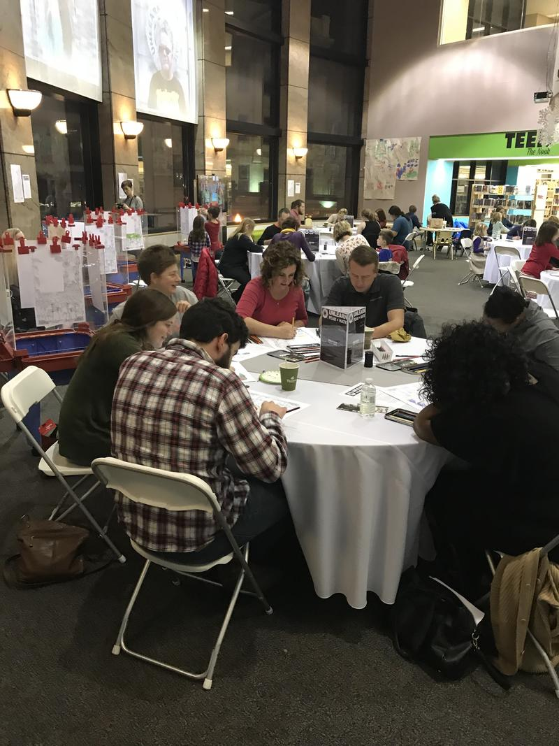"At least 80 people gathered at the first ""Unlearn Fear and Hate"" coloring party"