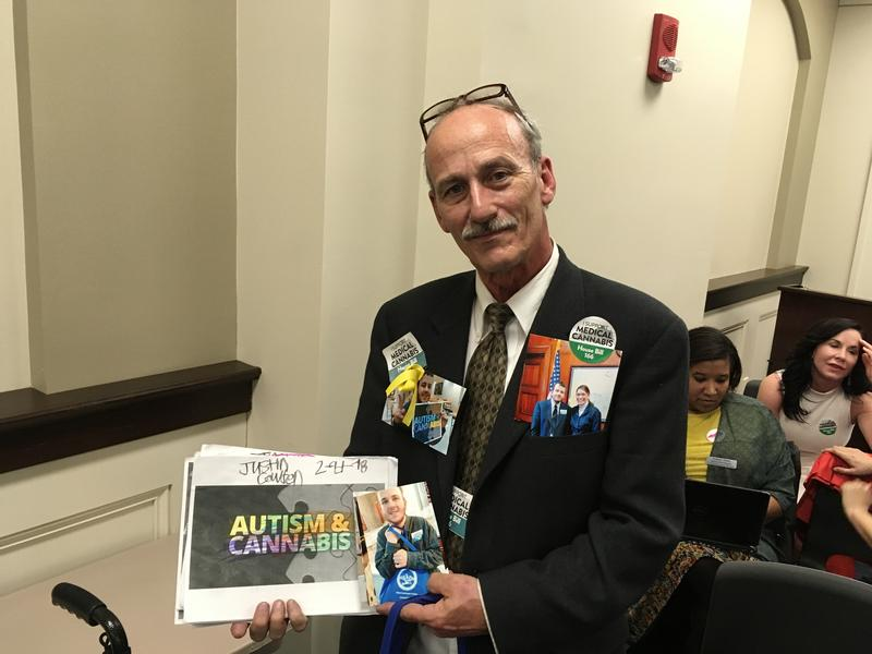 Medical Marijuana Supporter Mark Cowden at Tuesday's Judiciary Committee Meeting