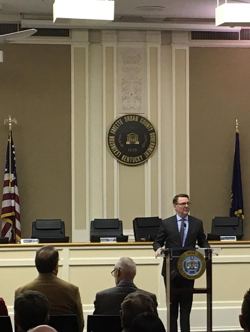 Lexington Mayor Delivers His Budget Address Tuesday April 10th