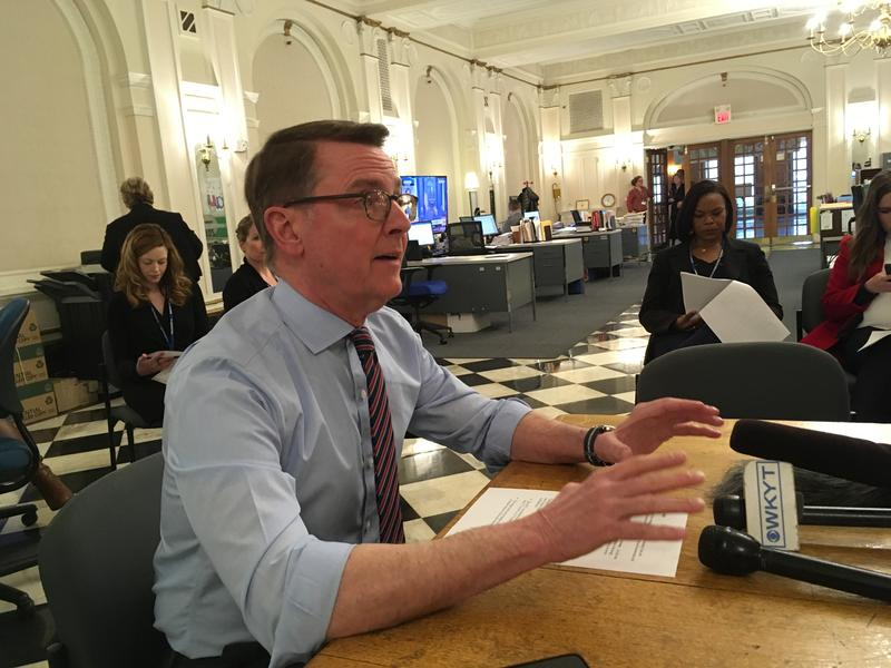 Lexington Mayor Jim Gray During Budget Briefing