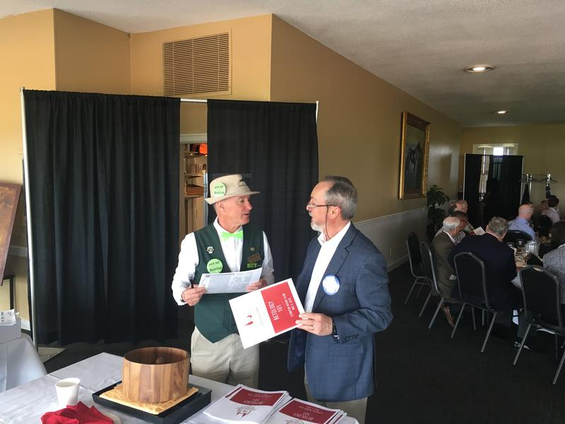 Left to Right-Bettologist Nick Tooth Advises Rotarian Edwin Gibson