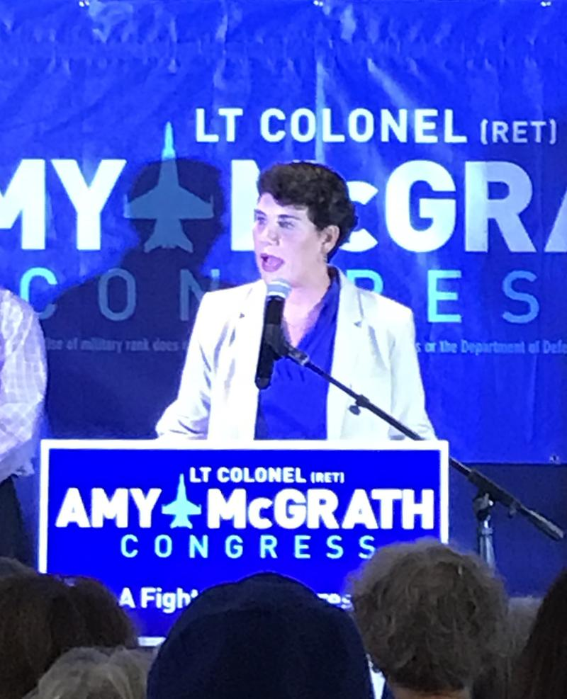 McGrath thanks supporters, her family and dedicates the win to her dad who dies 6 weeks ago.