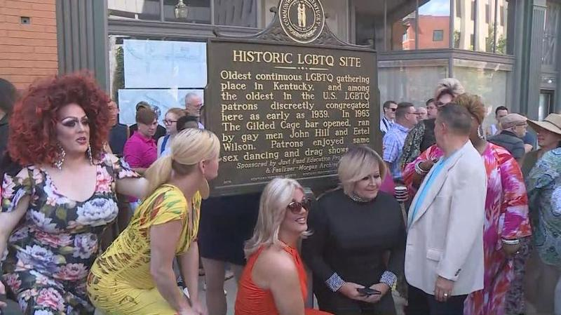 Historical marker being unveiled in Lexington