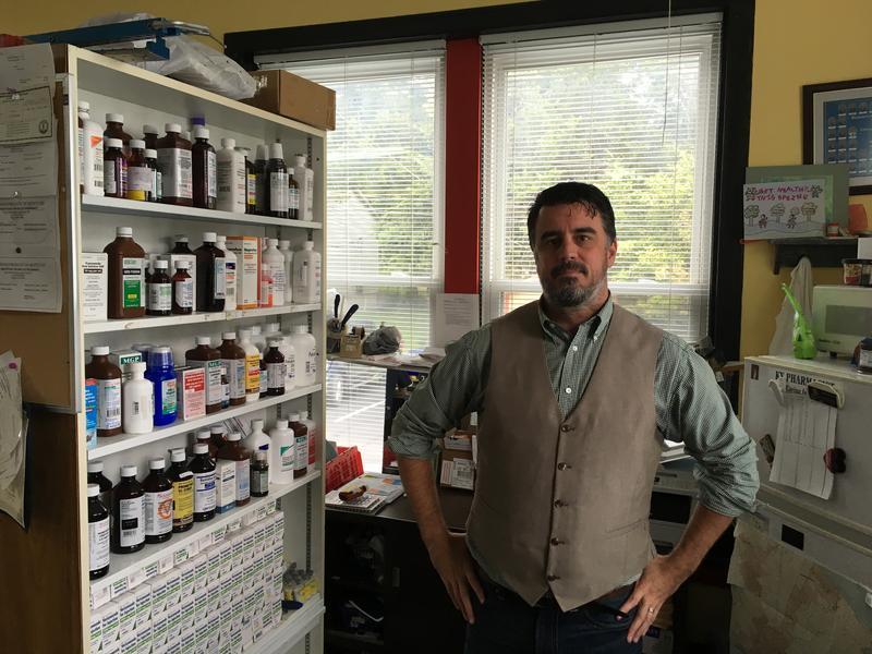 Sims Drug Store Pharmacist John McDaniel
