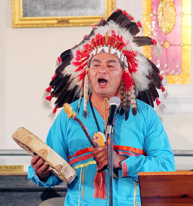 Eagleman of Lakota Sioux heritage,Matthew Black celebrates at first Indigenous Peoples' Day in Stanford