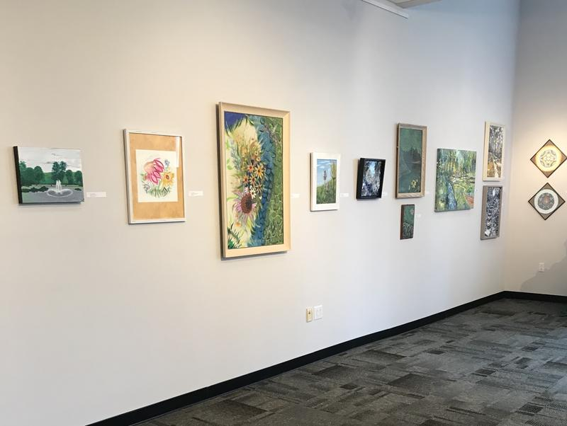 Paint By Nature : Streamside can be seen at the Pam Miller Downtown Arts Center through October 21st.