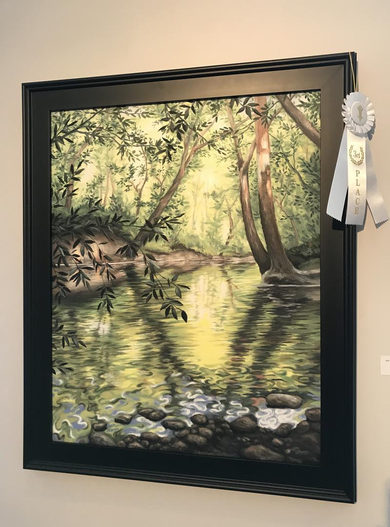 """Marie Waddell Pearson took thrid place with """"Veteran's Park Stream."""""""