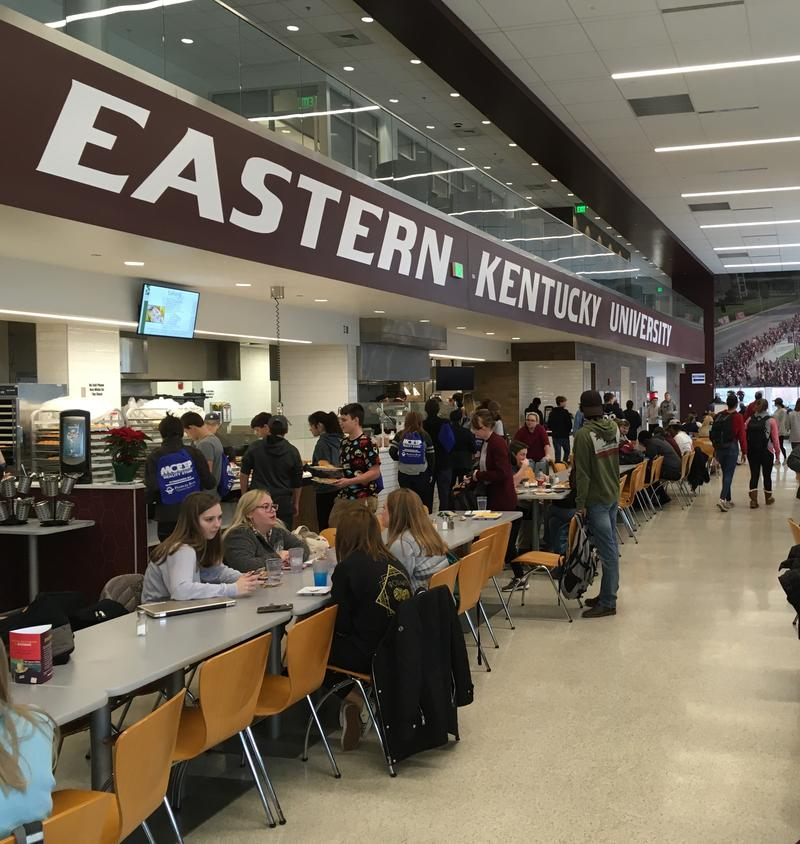 Students In EKU Dining Facility