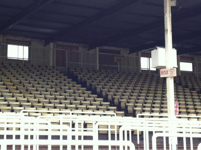Empty stands at the Home of the Preakness.