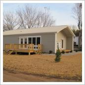 An example of an energy efficient home manufactured in a converted houseboat factory in Monticello, Ky. The UK College of Design and Center for Applied Energy Research hope the houses will be an affordable alternative to mobile homes.