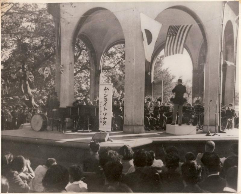 Hibya Park across from Emperors Palace Tokyo Japan October 26 1952.