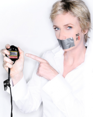 Glee co-star Jane Lynch Has Posed For The NOH8 Campaign
