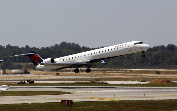A Delta jet took off from Blue Grass Airport in 2010. Most commercial jets flying into Lexington are 50-seaters, but Delta and other carriers have some planes coming in with 117 to 150 seats.