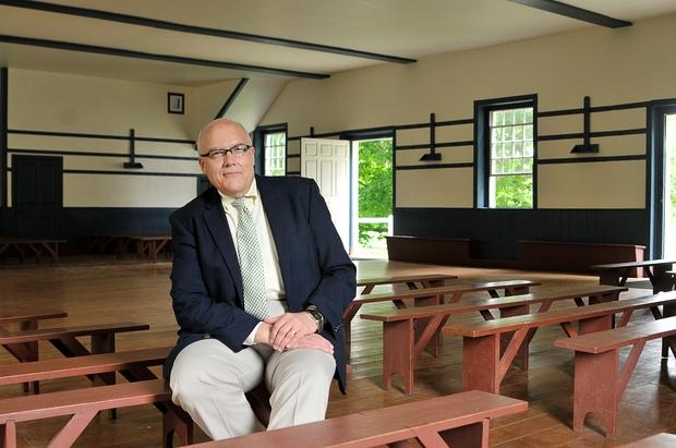 Maynard Crossland, who took over last summer as director of Shaker Village at Pleasant Hill, has helped to continue the Chamber Music Festival of the Bluegrass. Two of the concerts will be in the Meeting House.