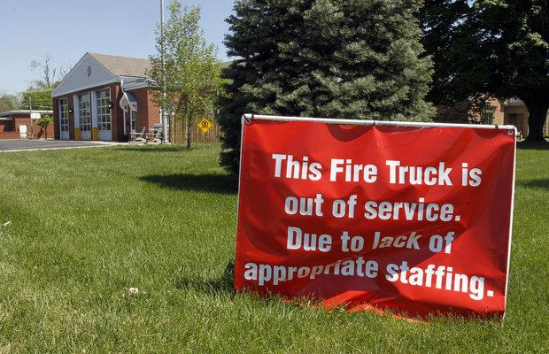 Fire Station No. 12 at Cherrybark and Southland drives in Lexington was not staffed for firefighting on Thursday.