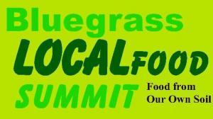 Bluegrass Local Food Summit poster