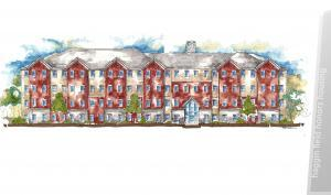Artist's rendering of New Central Residence Hall
