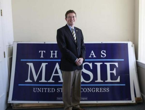 Newly elected Kentucky U.S. Rep. Thomas Massie will take the oath of office on Tuesday before other new representatives because he also won the special election to finish Rep. Geoff Davis' unexpired term. Davis resigned July 31.