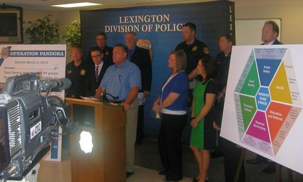Anti-Heroin Task Force announces its early findings during a news conference this morning in Lexington.