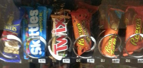 Vending machine at eastern Kentucky school.