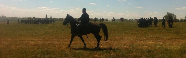 Recent re-enactment at Richmond Battlefield Park.