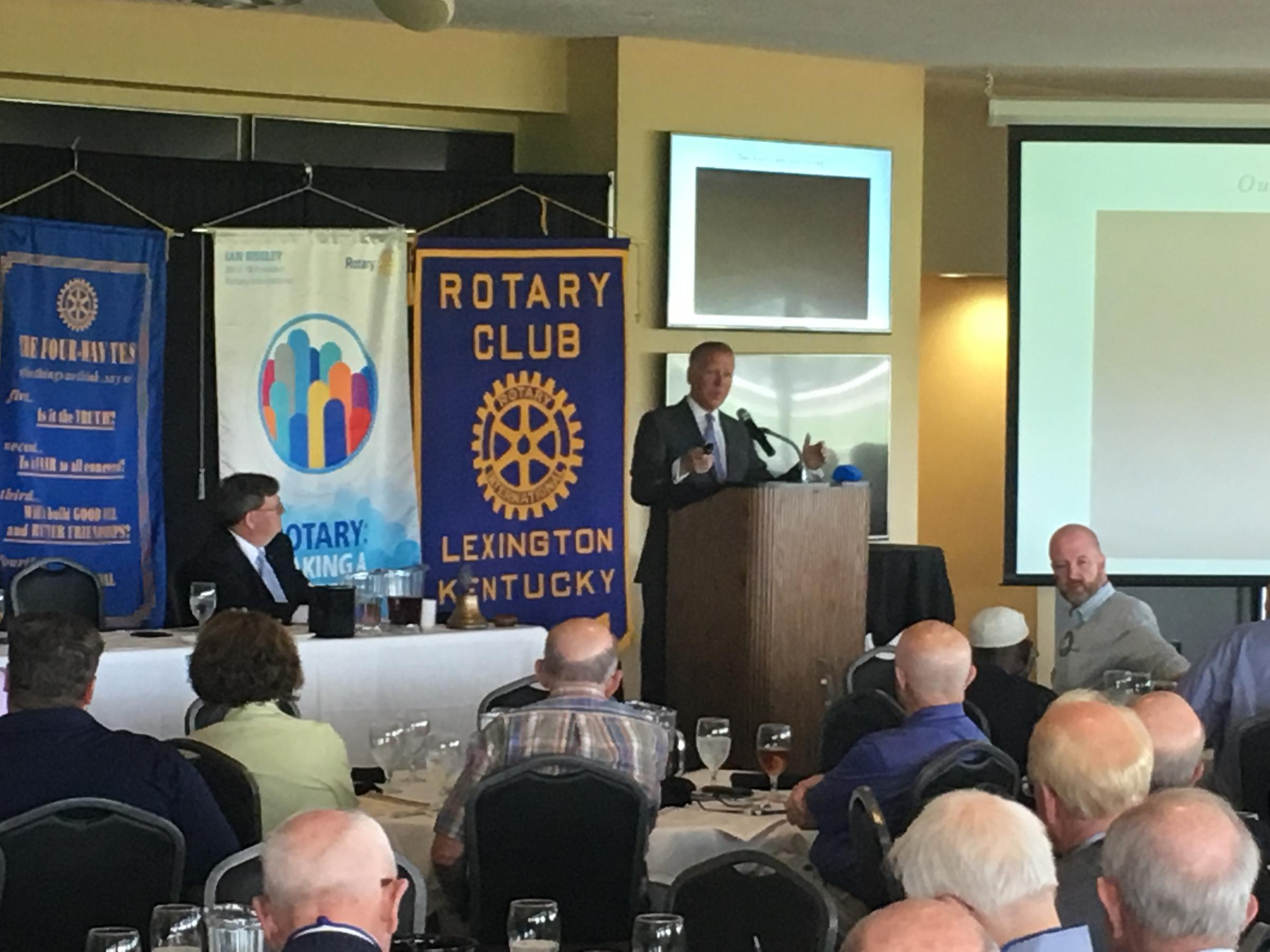 Keeneland President Bill Thomason Speaks to Rotarians