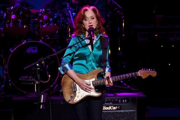 Bonnie Raitt in performance last Friday at Hill Auditorium.