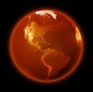 A reddened Earth.