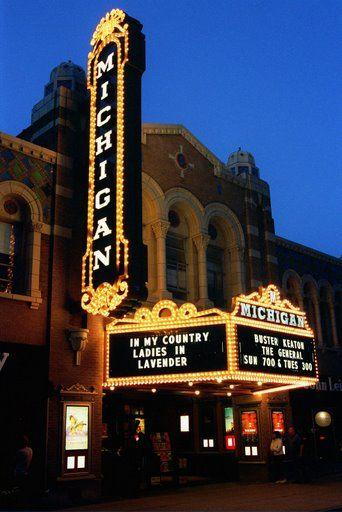 The Michigan Theater at Night