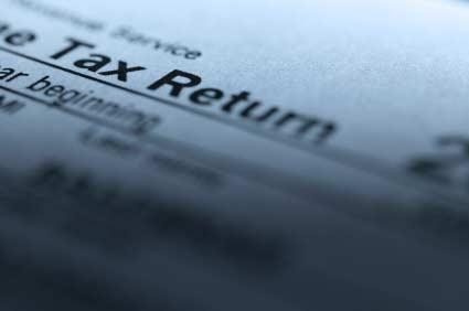 A tax return form.