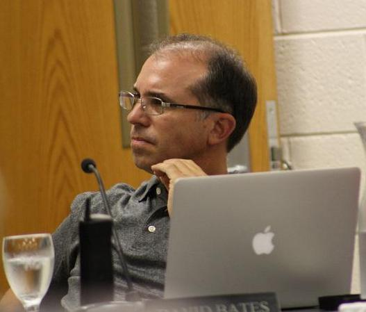 Ypsi school board President David Bates listens to presentation on student achievement