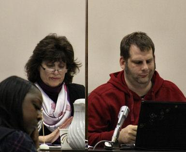 Council members Susan Moeller and Brian Robb joined Pete Murdock in voting to leave chamber.