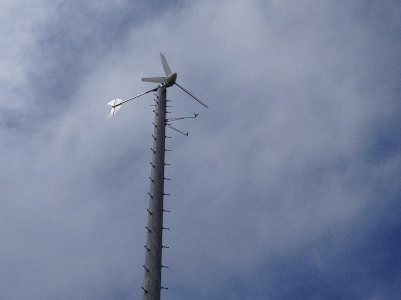 The wind turbine at the Unitarian Universalist Church of Ann Arbor.