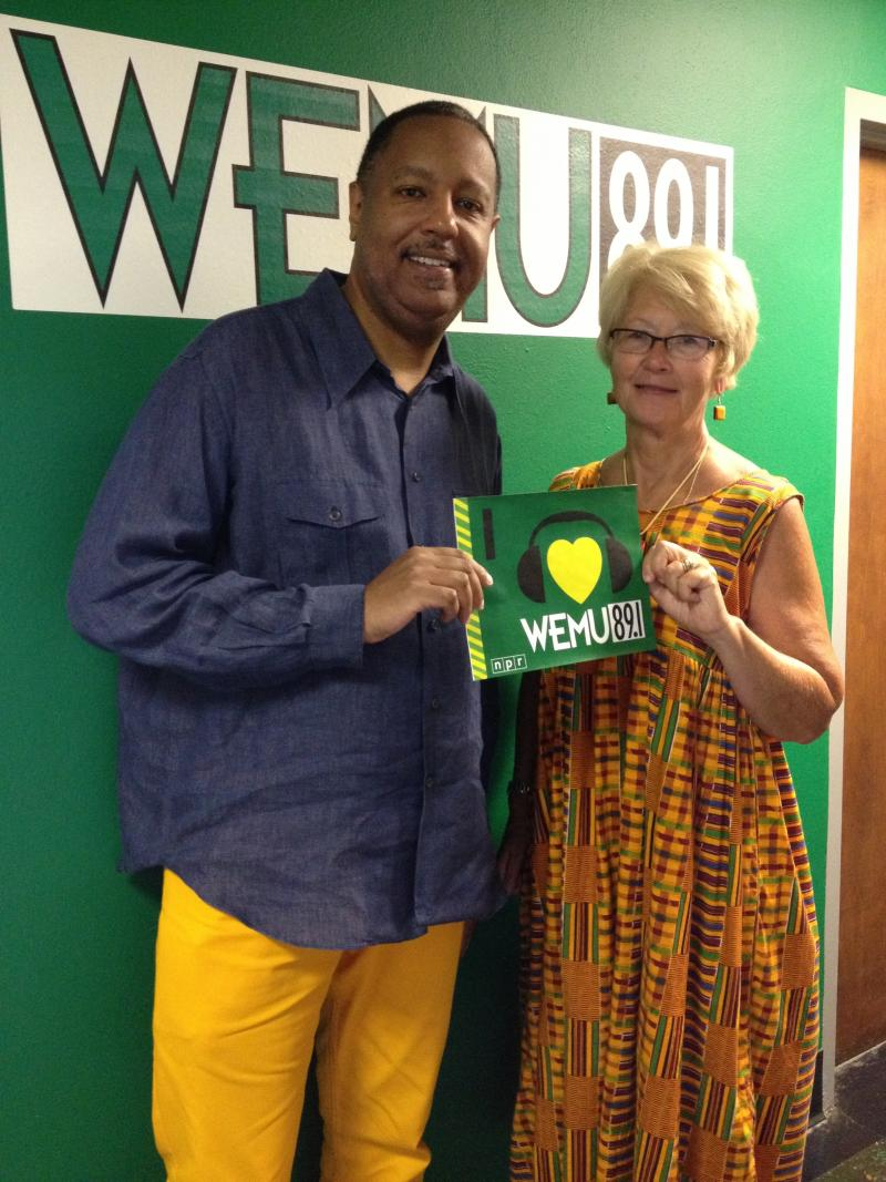 Robert and Linda in the WEMU studios