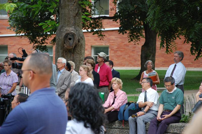 Crowd of participants at the event to honor the 50th anniversary of the March on Washington