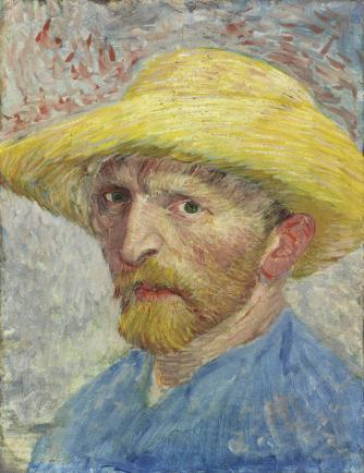 Christie's estimates this piece would sell for $80-$150 million.  Self-Portrait, Vincent van Gogh, 1887, oil on artist board, mounted to wood panel.