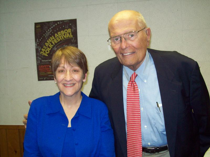 Dingell with WEMU's Lynn Rivers