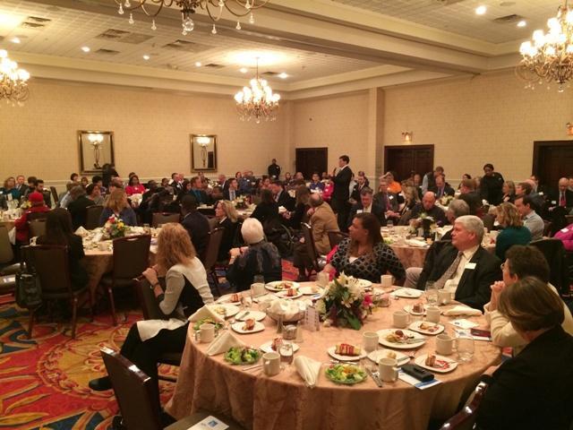Congressman John D. Dingell addresses the Ann Arbor/Ypsilanti Regional Chamber luncheon meeting.