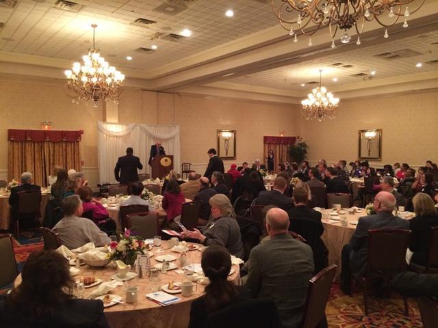 Ann Arbor/Ypsilanti Regional Chamber crowd listens to Congressman John D. Dingell.