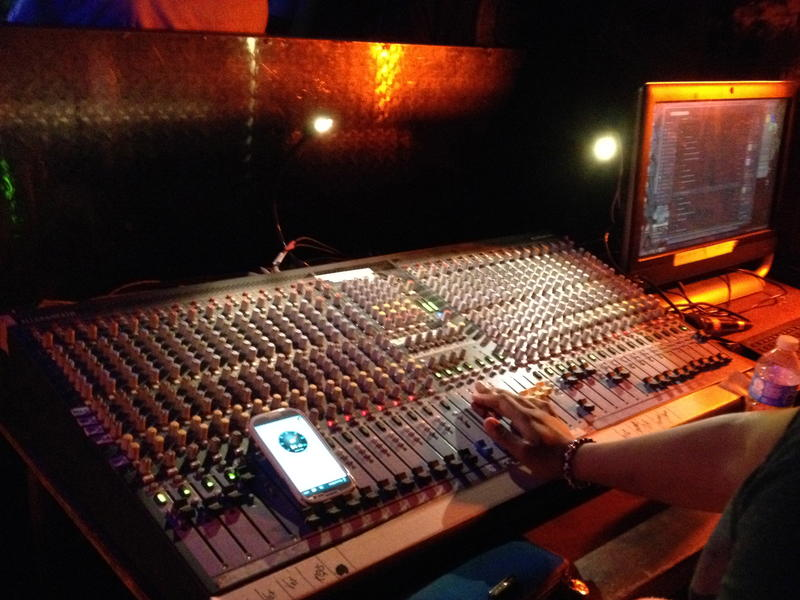 The mixing board at LIVE in Ann Arbor