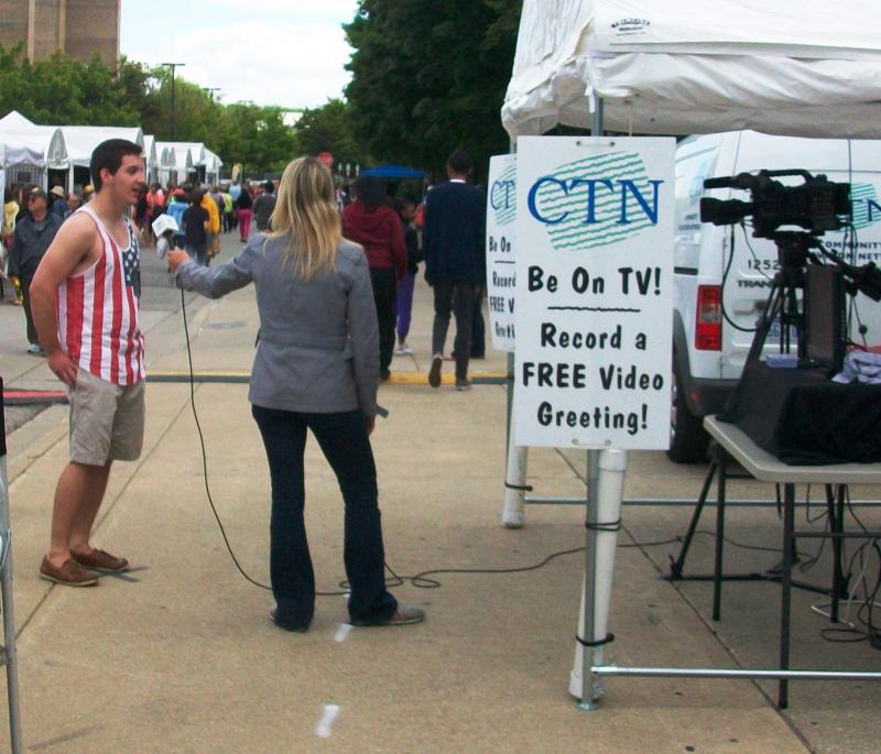 Community Television Network booth at Ann Arbor Art Fair