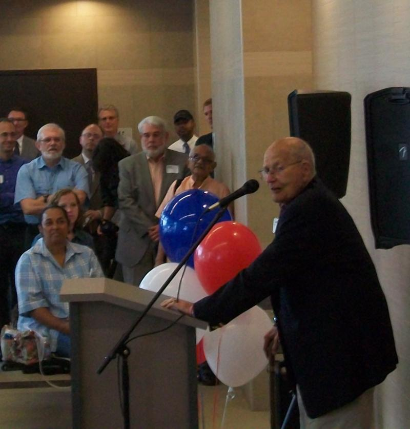 US Representative John Dingell at Blake Transit Center Grand Opening