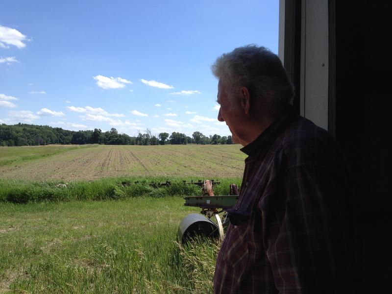 Kenney Siler at his farm in Manchester