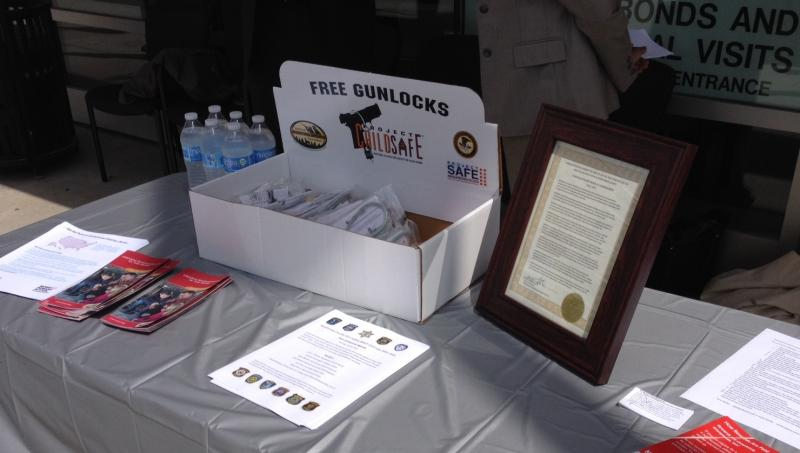 Gun safety locks and information will be available at law enforcement agencies during Gun Safety Week.