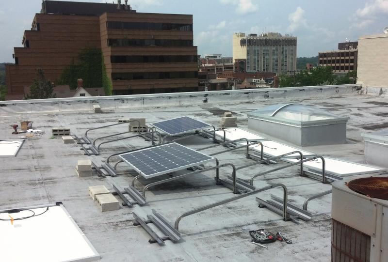 Ecology Center Solar Panels Installation