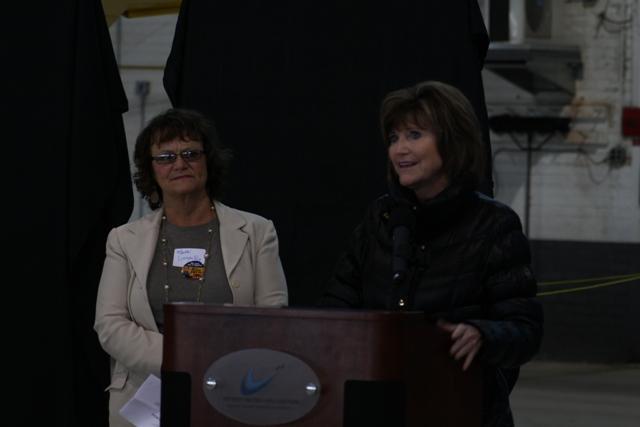 Ypsilanti Township Clerk Karen Lovejoy Roe (l) and Supervisor Brenda Stumbo.