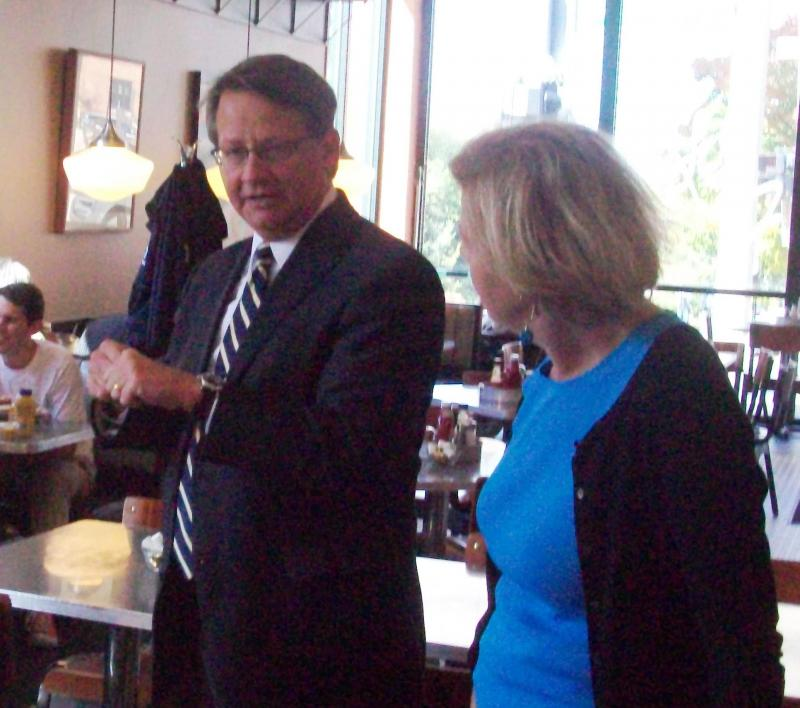 US Representative Gary Peters and Senator Tammy Baldwin from Wisconsin