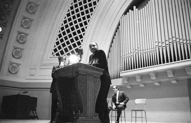 Martin Luther King, Jr. at Hill Auditorium